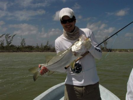 mexico fly fishing lodge ascension bay